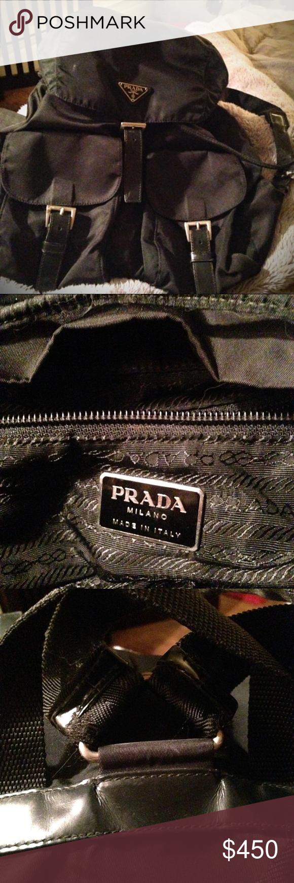 573f3a6898af VINTAGE PRADA- Black Vela Backpack PRADA VELA NYLON BACKPACK Black Vela  nylon Prada backpack with
