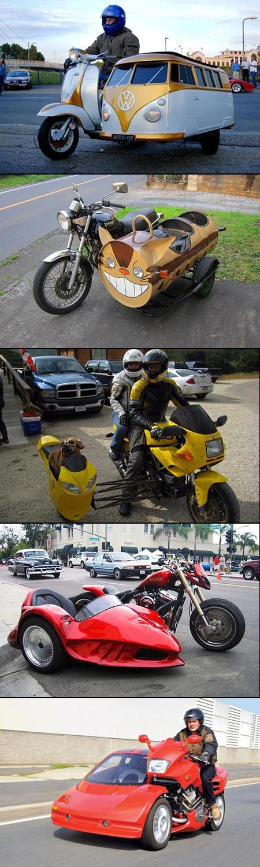 strange motorcycle sidecars  5 crazy shapes