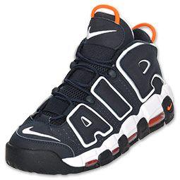 new products 5e4a7 1dbb7 Nike Air More Uptempo Men s Basketball Shoe   FinishLine.com   Navy  Orange White