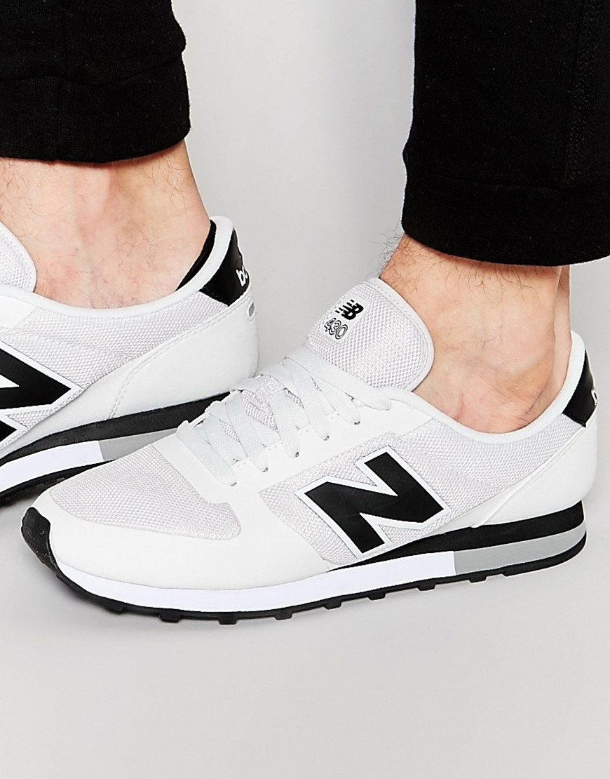 140bc56d7bee6 Image 1 of New Balance Exclusive To ASOS 430 Trainers | White ...