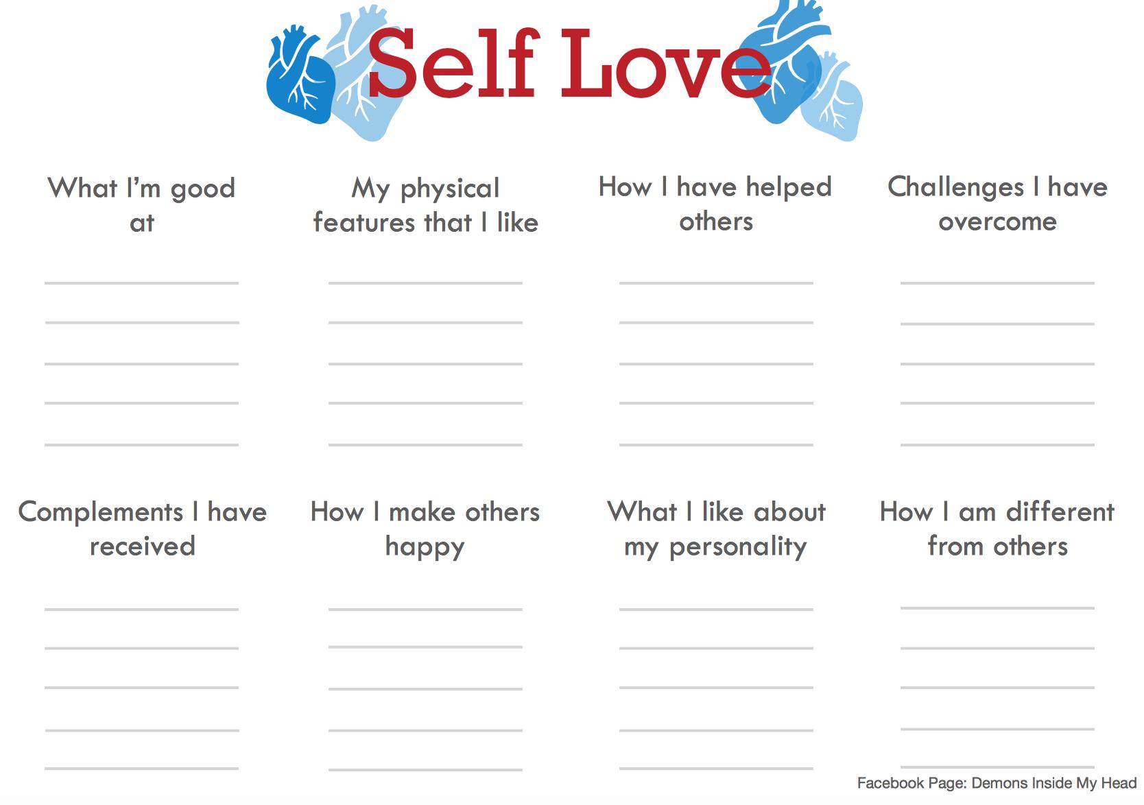 Demons Inside My Head | Self esteem worksheets, Self ...