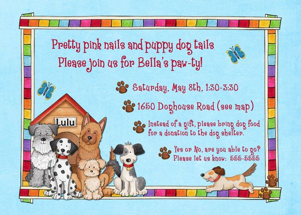 Animal Shelter Birthday Party Theme A party theme that lets kids - birthday invitation wording no gifts donation
