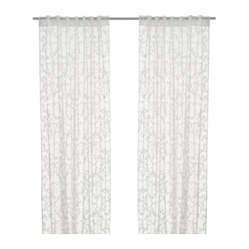 Perfect ALVINE RUND   Curtains From IKEA. Sheer But With A Slight Pattern In White.