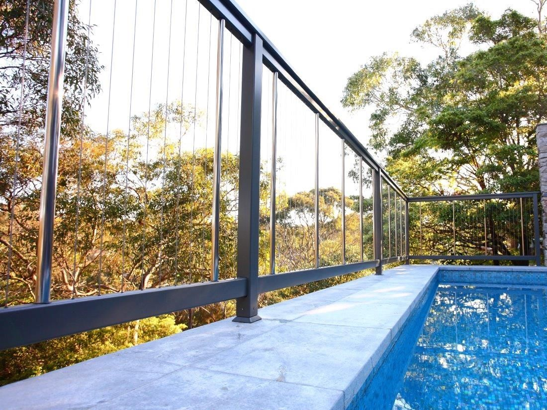 Aluminium Vertical Cable Wire Balustrades And Pool Fencing