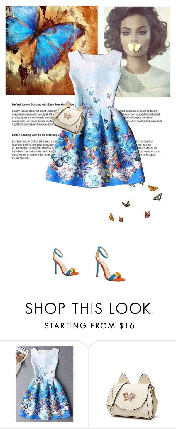 """""""Butterflies"""" by theitalianglam ❤ liked on Polyvore featuring Moa', ombre, trends and 60secondstyle"""
