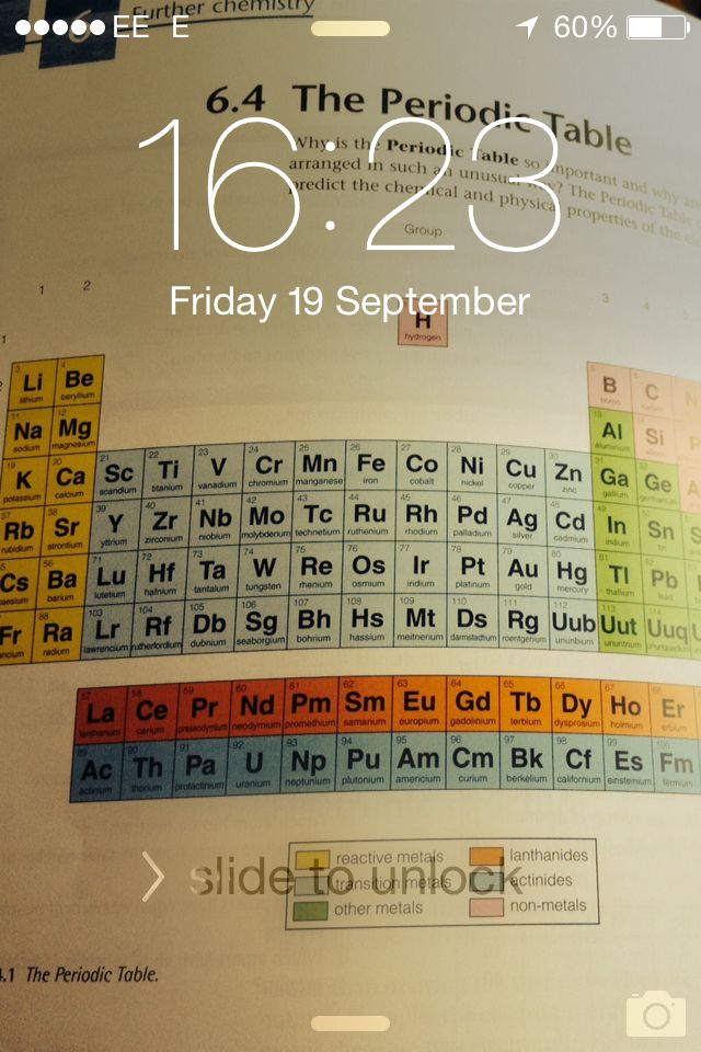 periodic table periodic table of elements quiz 1 60 my chemistry related lock screen - Periodic Table Of Elements Quiz 1 60