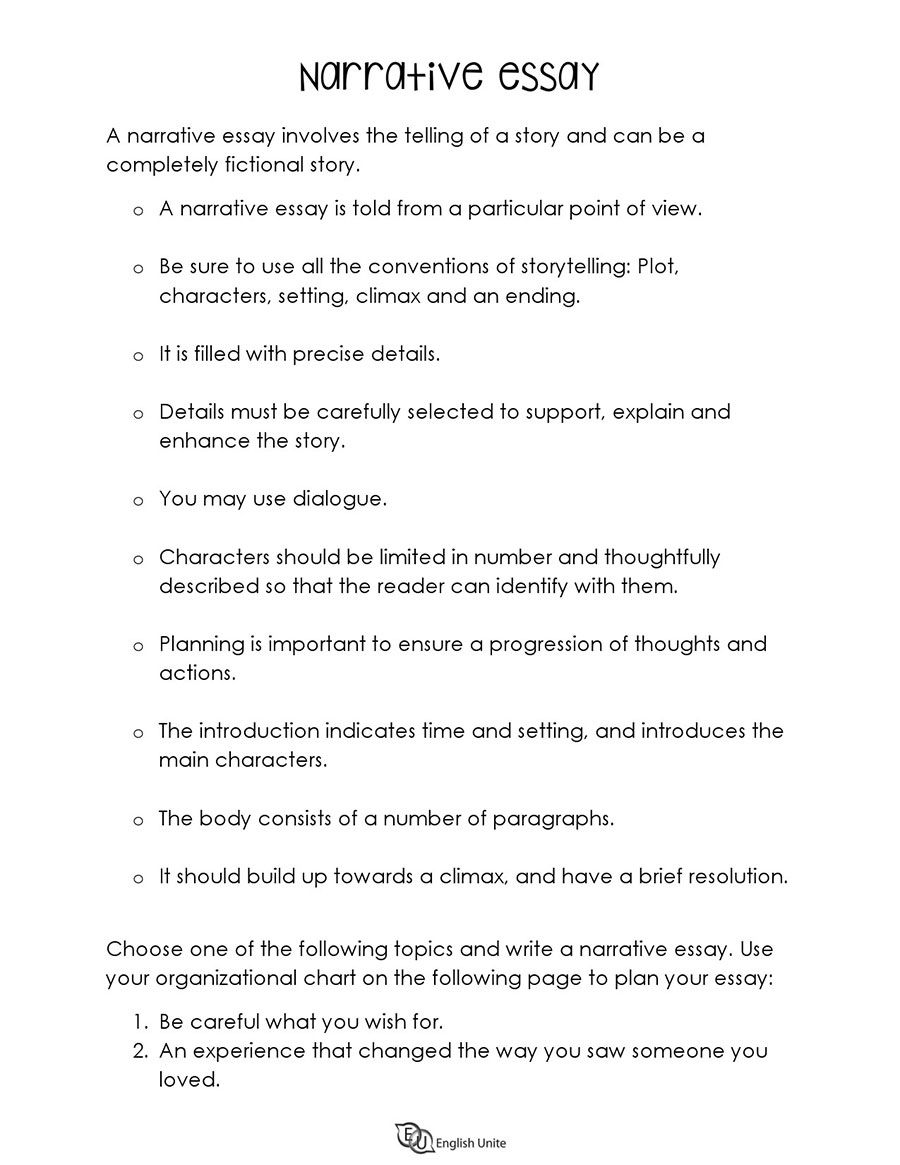 Writing Guide For Essay English Unite Narrative Guided Point Of View On A Rose Emily Example 3rd Person