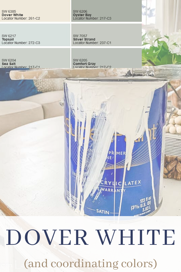 All about Sherwin Williams Dover white and how it looks on walls and trim