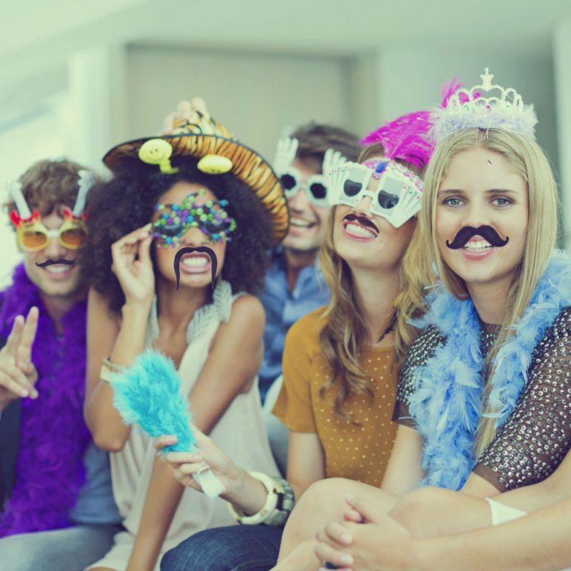 48x Funny Fancy Halloween Costume Party Dress Fake Beard Moustache