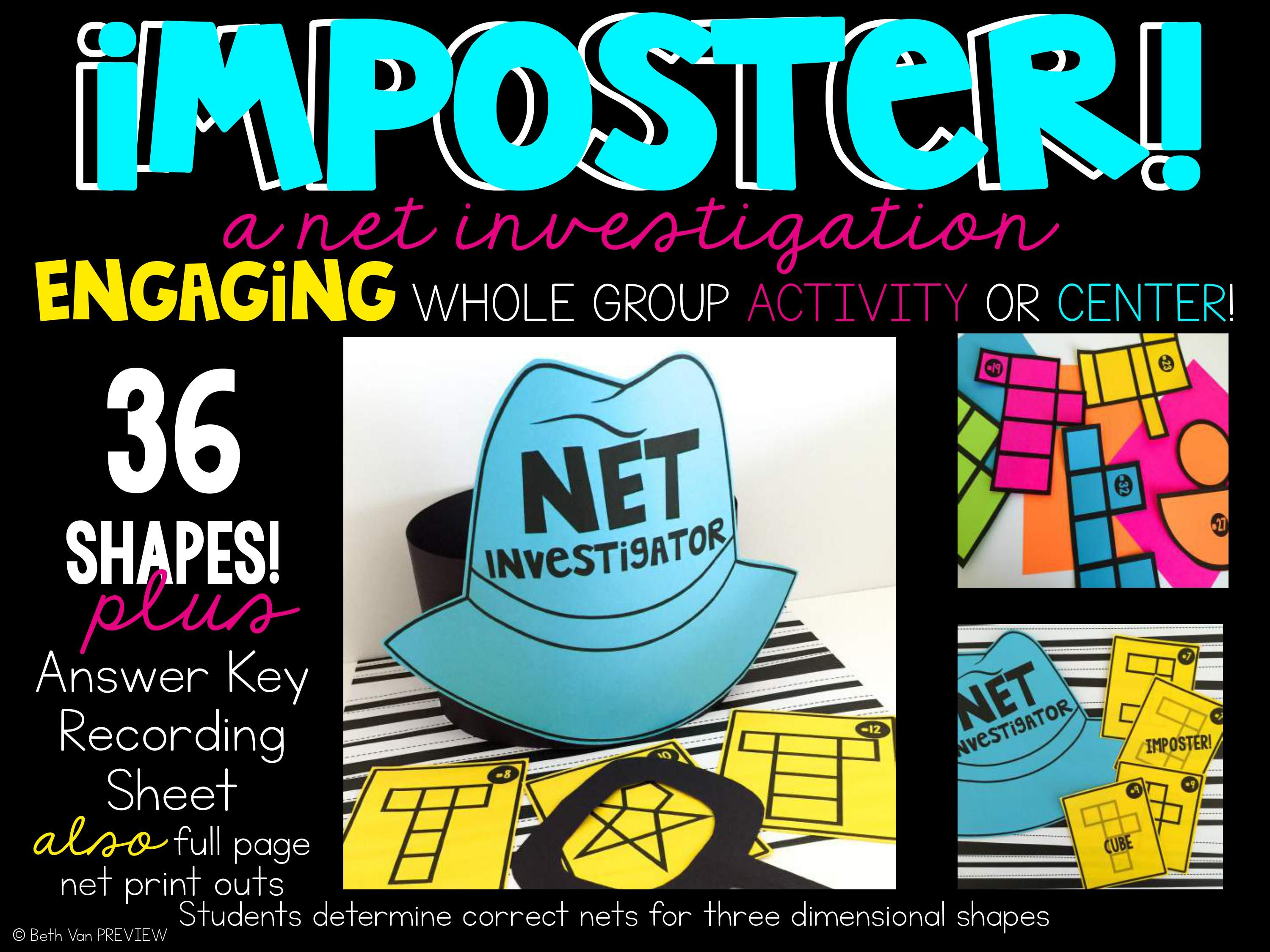 Nets and 3d Shapes Posters and Activities | Pinterest | 3d shapes ...