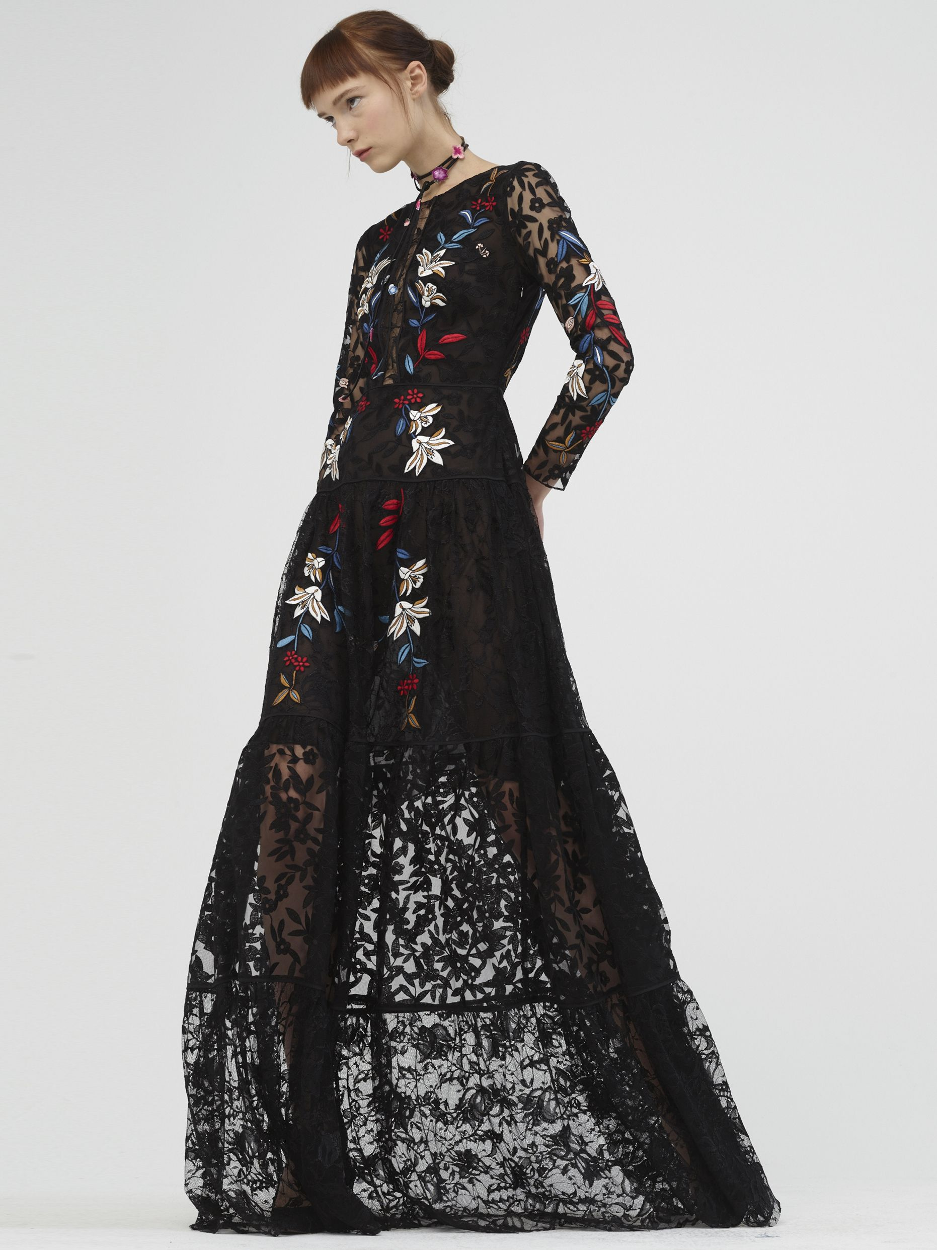 01d09a7d39e13 Spring Summer 2017 Sachin & Babi. Dupont gown: Jet lace long sleeve ...