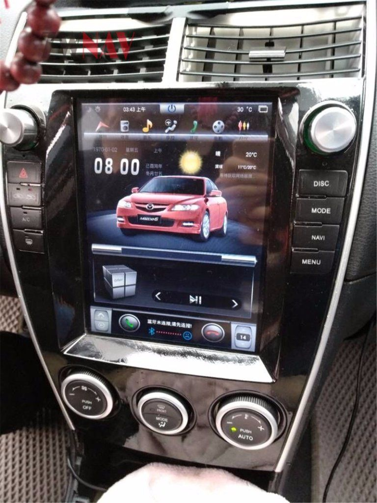 Tesla style Dashboard Screen with Android 6 0 Radio GPS