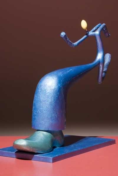 Sculptamold Plywood Epoxy Resin Sculpture By Sculptor Krzysztof Zukowski Titled