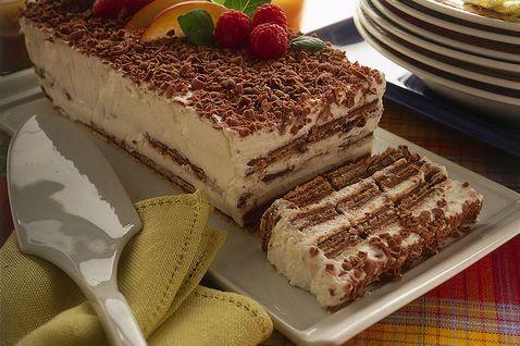 Mattonella fredda con wafer ricotta e cioccolato | gelati ...