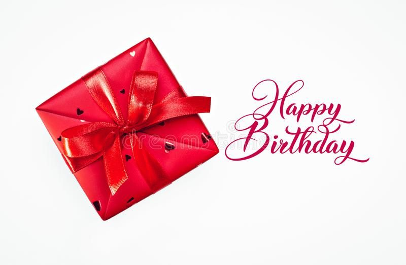 Happy birthday gift in red box one red box with surprise