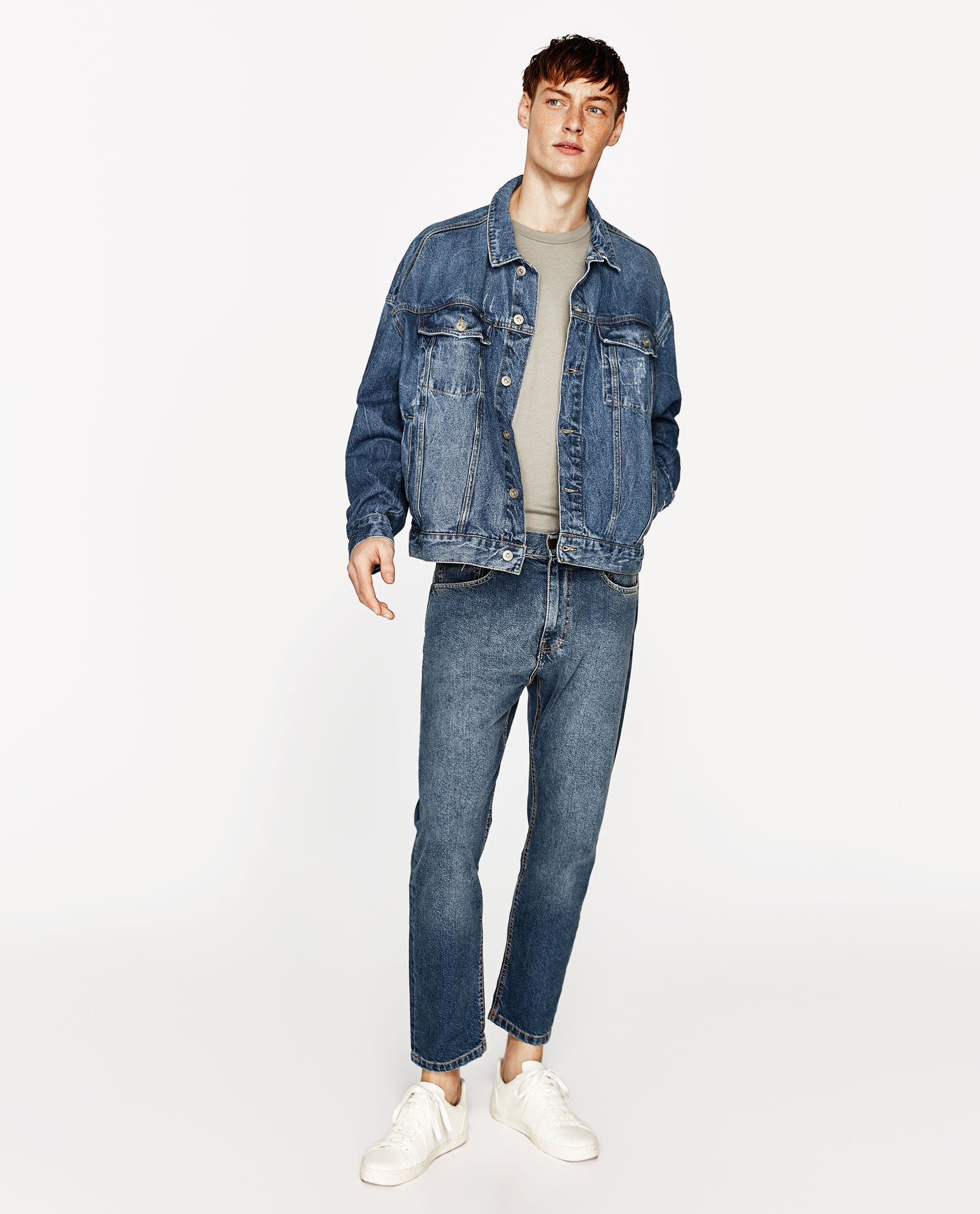 Zara Man Oversized Denim Jacket [ 2379 x 1920 Pixel ]