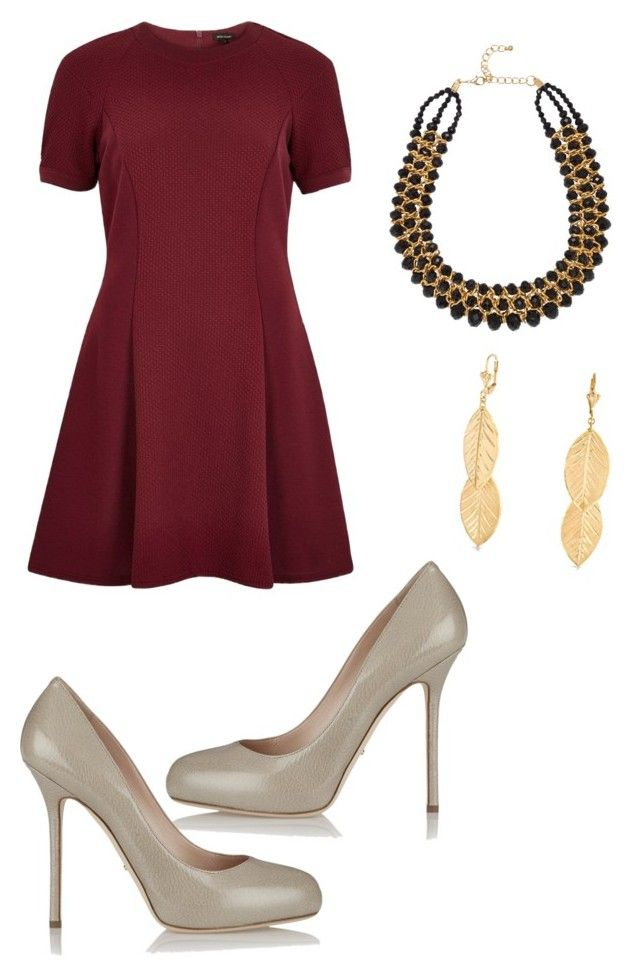 """Untitled #106"" by fatimazaramrhizou ❤ liked on Polyvore featuring River Island, Sergio Rossi, Adele Marie and Bling Jewelry"