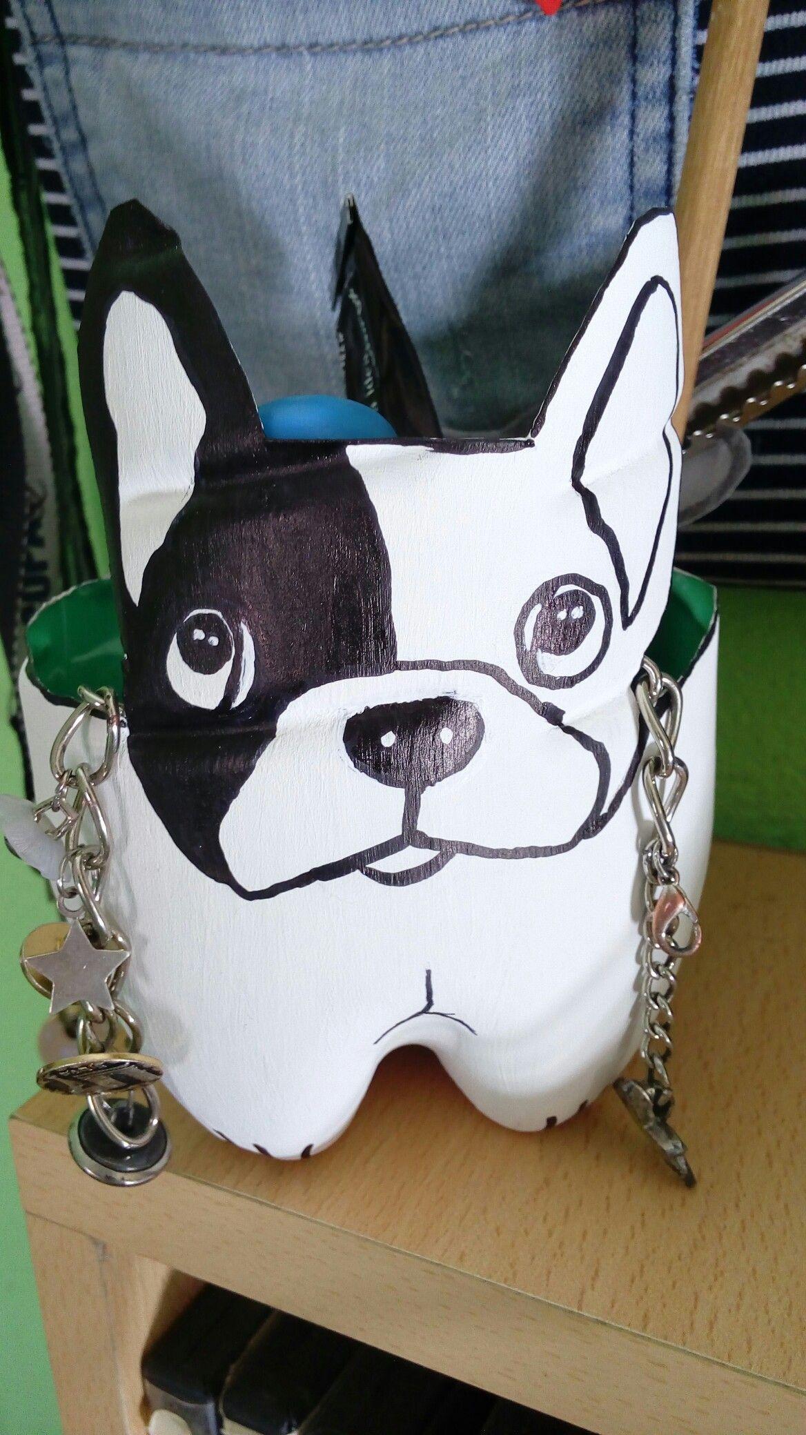 Reciclaje Con Botella Porta Lapices O Cosas Dibujo Bulldog Frances Toledo Sanzetenea Bf Pinterest French Bulldogs