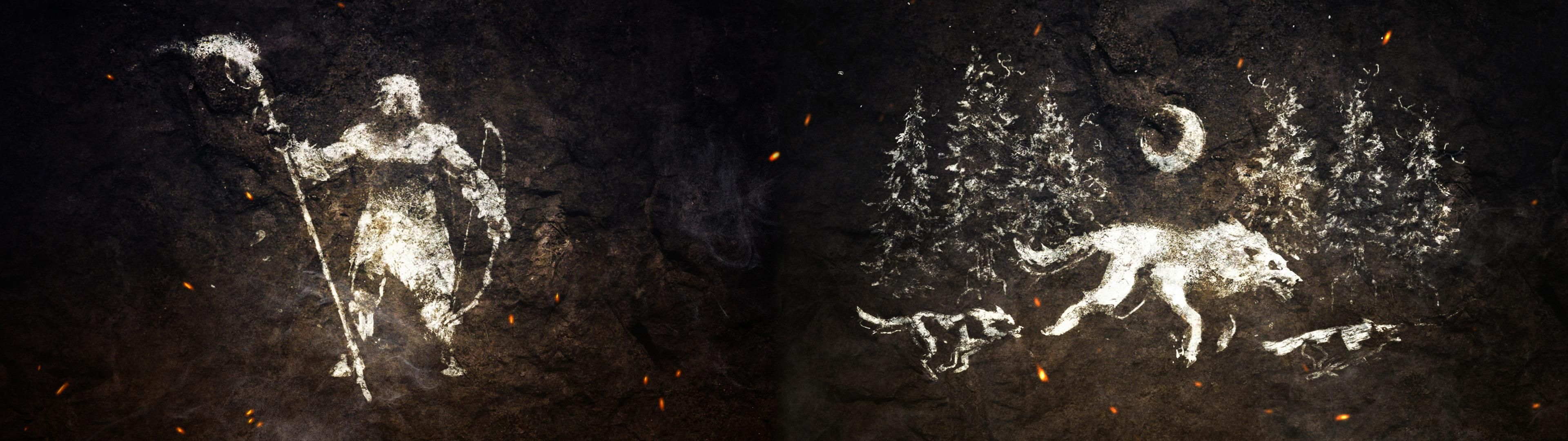 made a farcry primal dual monitor wallpaper 3840x1080