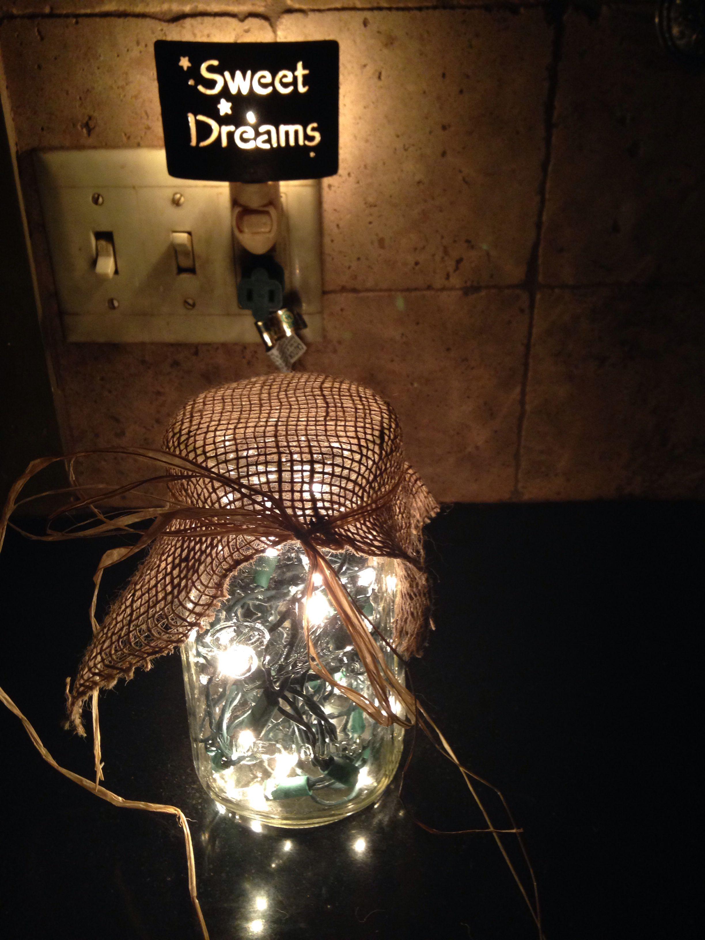 artsy lighting. Cute Ball Jar Night Light!!! #rustic #artsy Artsy Lighting E