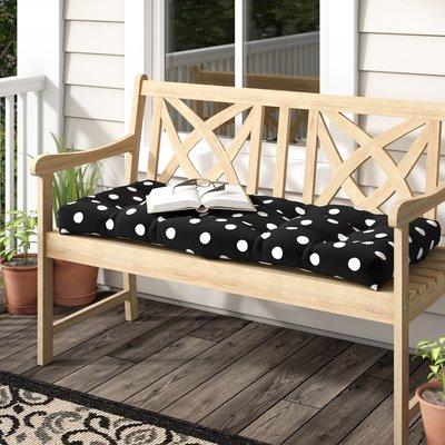 Charlton Home Tadley Indoor Outdoor Loveseat Cushion Colour Black