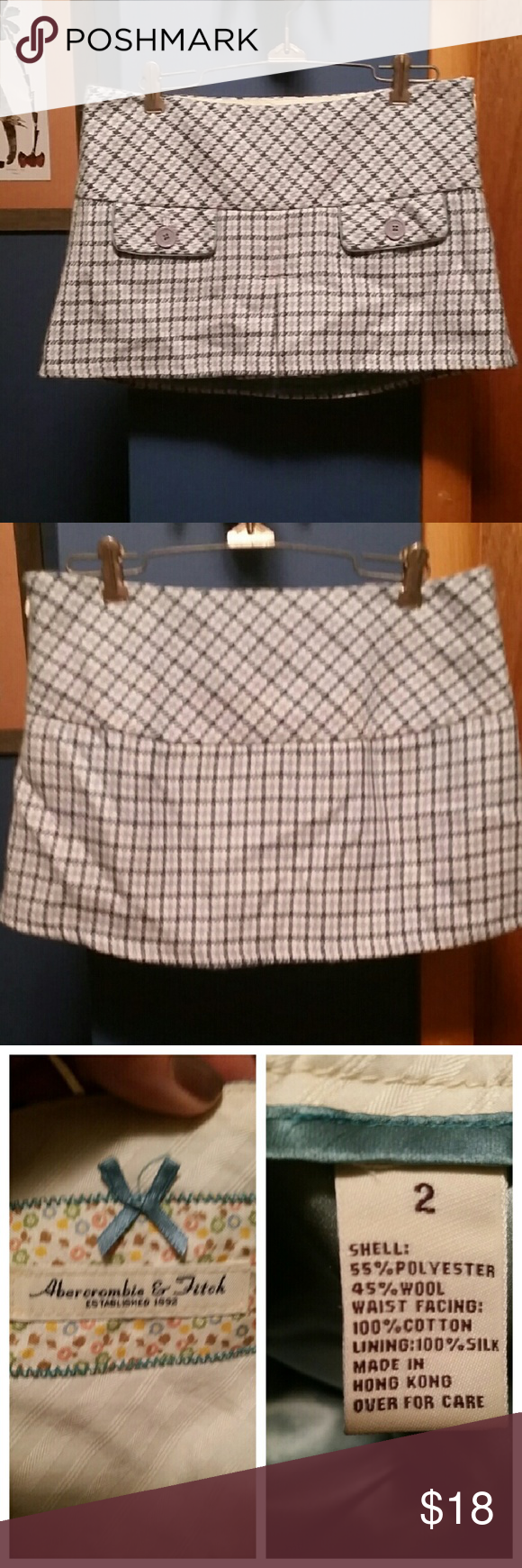 "Abercrombie & Fitch  printed mini skirt In brand new condition. 11"" from hip to hem. * Abercrombie & Fitch Skirts Mini"