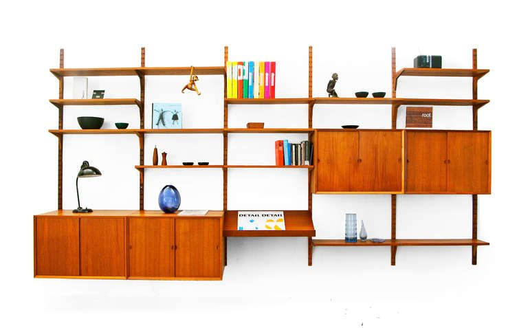 wall unit by poul cadovius danish modern bookcase