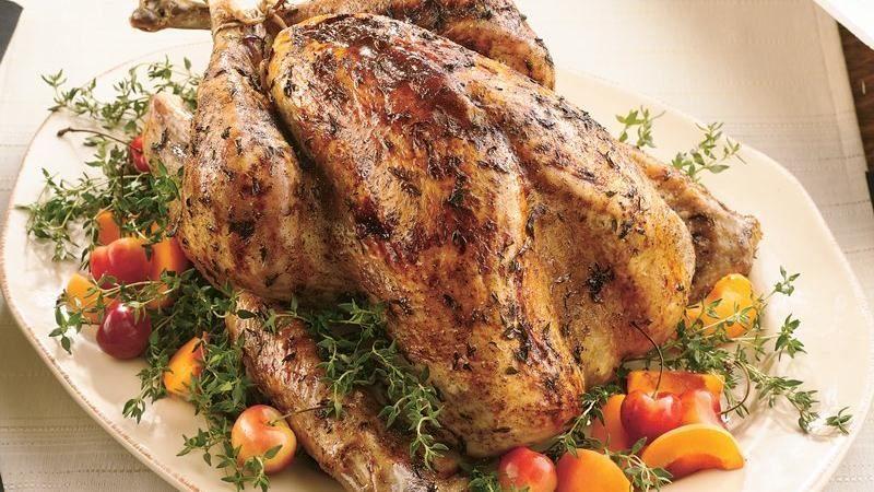 roast turkey with fresh thyme rub and maple glaze recipe fresh thyme roasted turkey and maple glaze