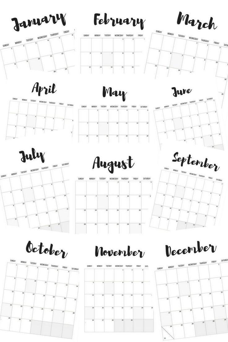 Calendars Free Printables  Printable Calendars