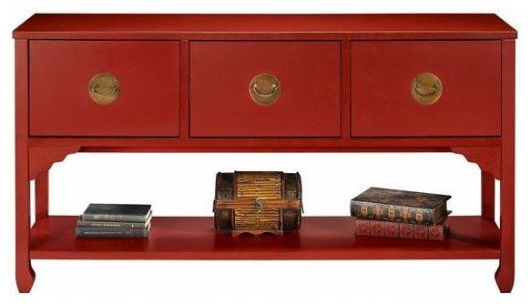 Good Wuchow Three Drawer File Console   Asian   Filing Cabinets And Carts   Home  Decorators