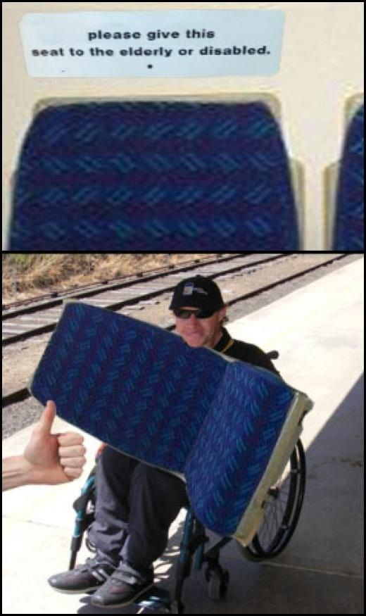 Please give this seat to the elderly or disabled
