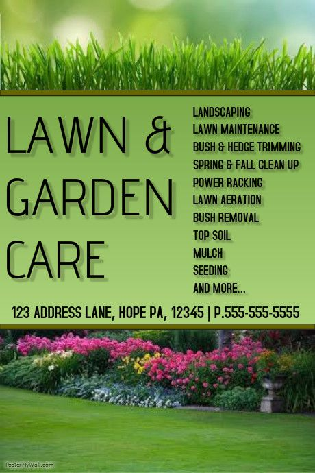 Create Amazing Lawn Care Flyers By Customizing Our Easy To Use