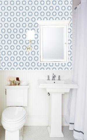 Designer Wallpaper Direct Blue White Spark Zoffany Similar