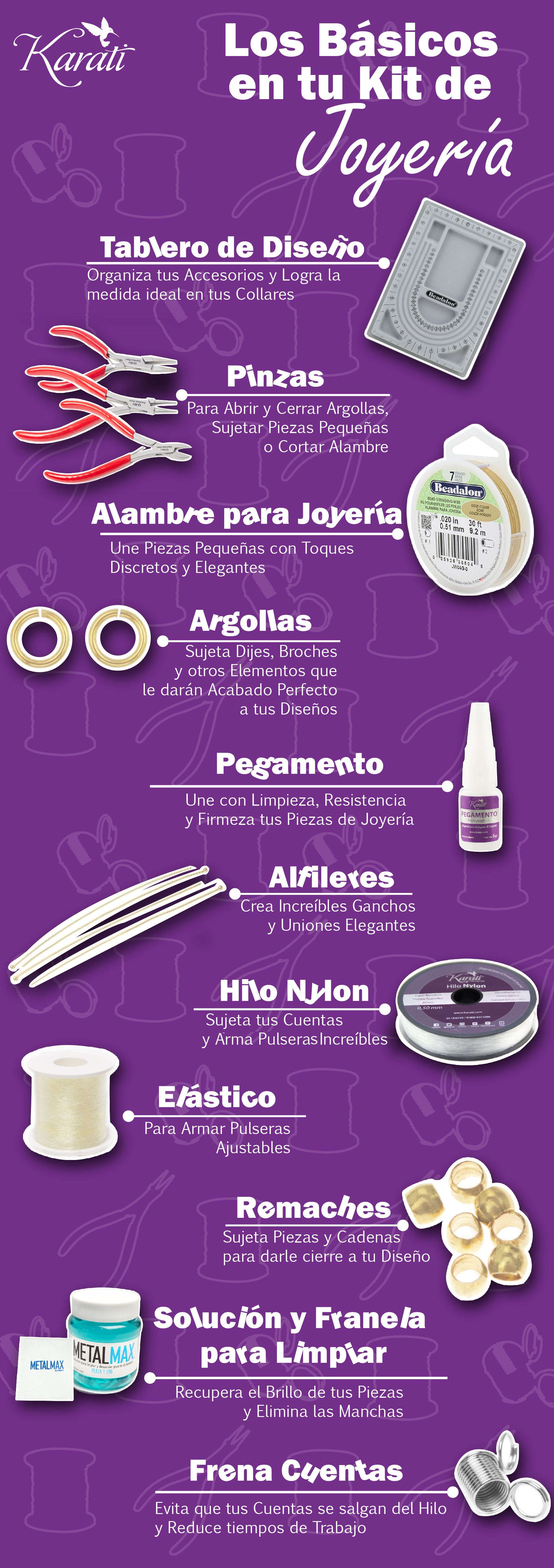 Los Basicos De Un Buen Kit De Armado De Joyeria Bisuteria Herramientas De Joyeria Bisuteria Materiales