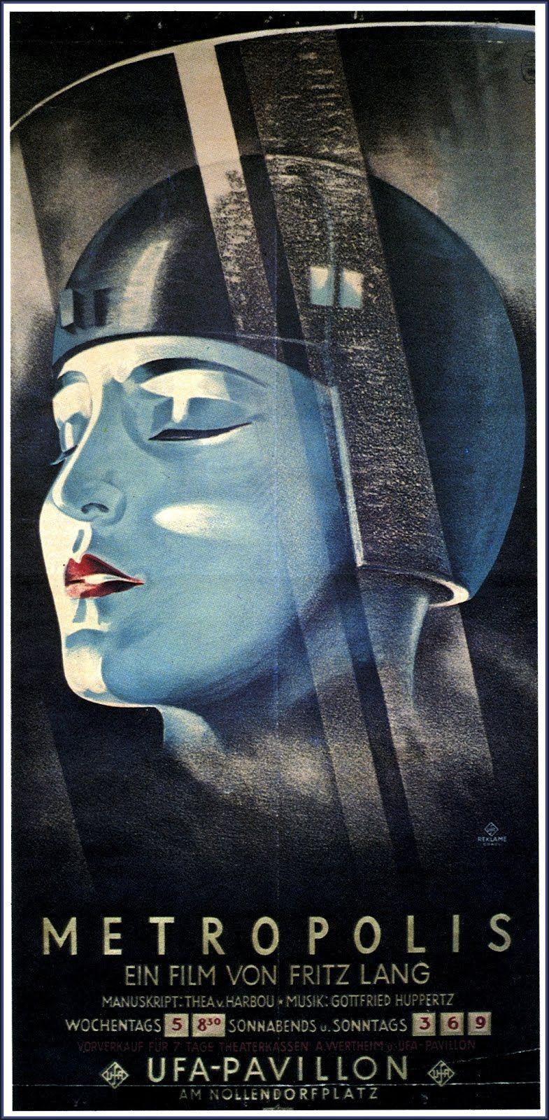 METROPOLIS Movie POSTER 14x36 German Brigitte Helm Alfred Abel ...