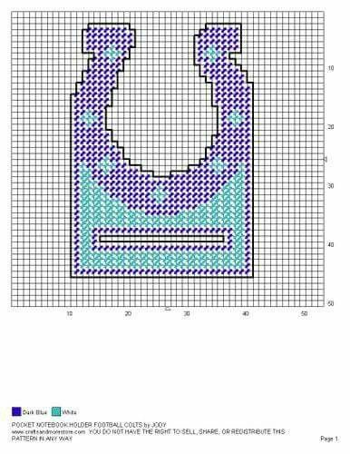 Pin By Jennifer Riccius On Indianapolis Colts Canvas Patterns Plastic Canvas Patterns Note Pad Holder