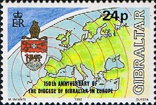 Gibraltar 1992 Anglican Diocese Fine Mint SG 633 Scott 619 Other European and British Commonwealth Stamps HERE!