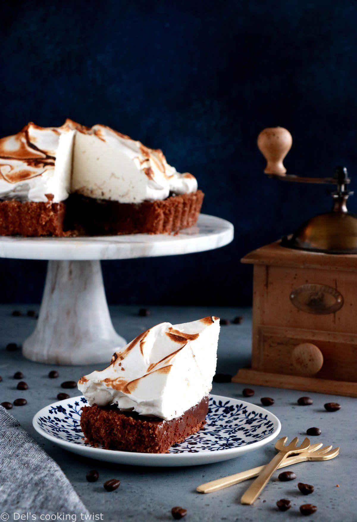Chocolate Coffee Meringue Pie Del S Cooking Twist Recipe Kid Friendly Recipes Dessert Desserts Perfect Pies