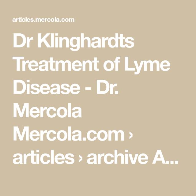 Lyme disease dr mercola
