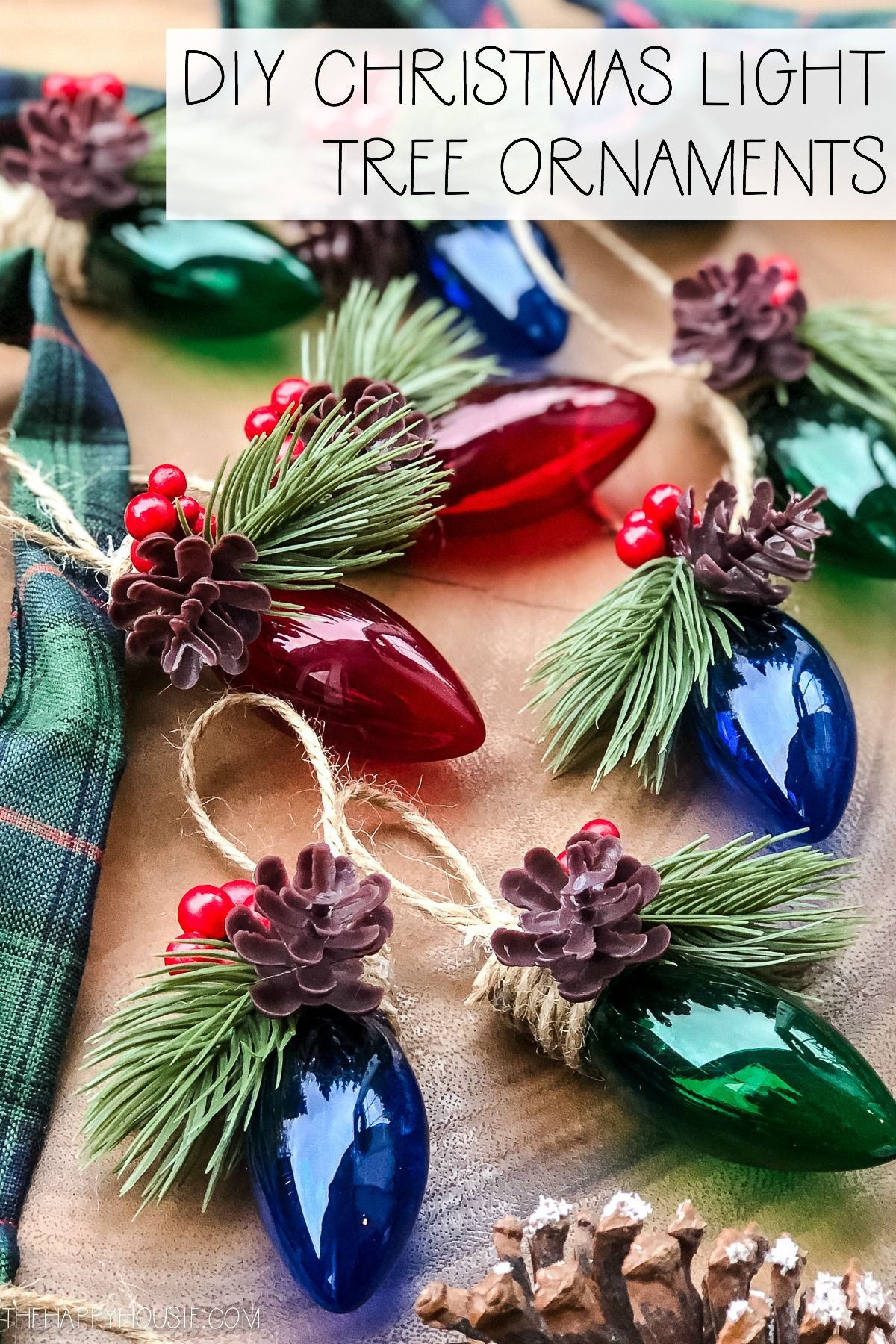 DIY Christmas Light Tree Ornament | The Happy Housie