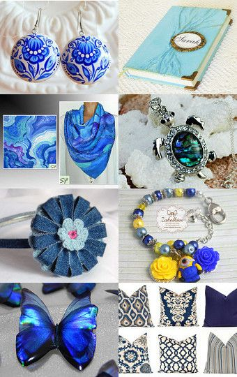 Blue Treasury by Kate and Cliff on Etsy--Pinned with TreasuryPin.com
