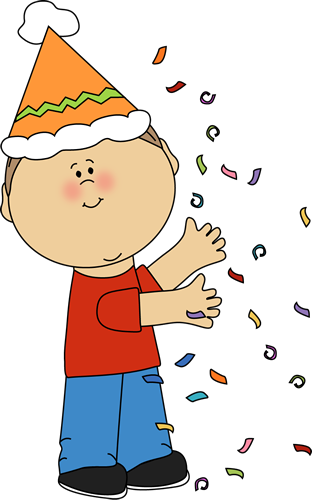 Kid With Birthday Confetti Kids Clipart Clip Art Little Girl Crafts