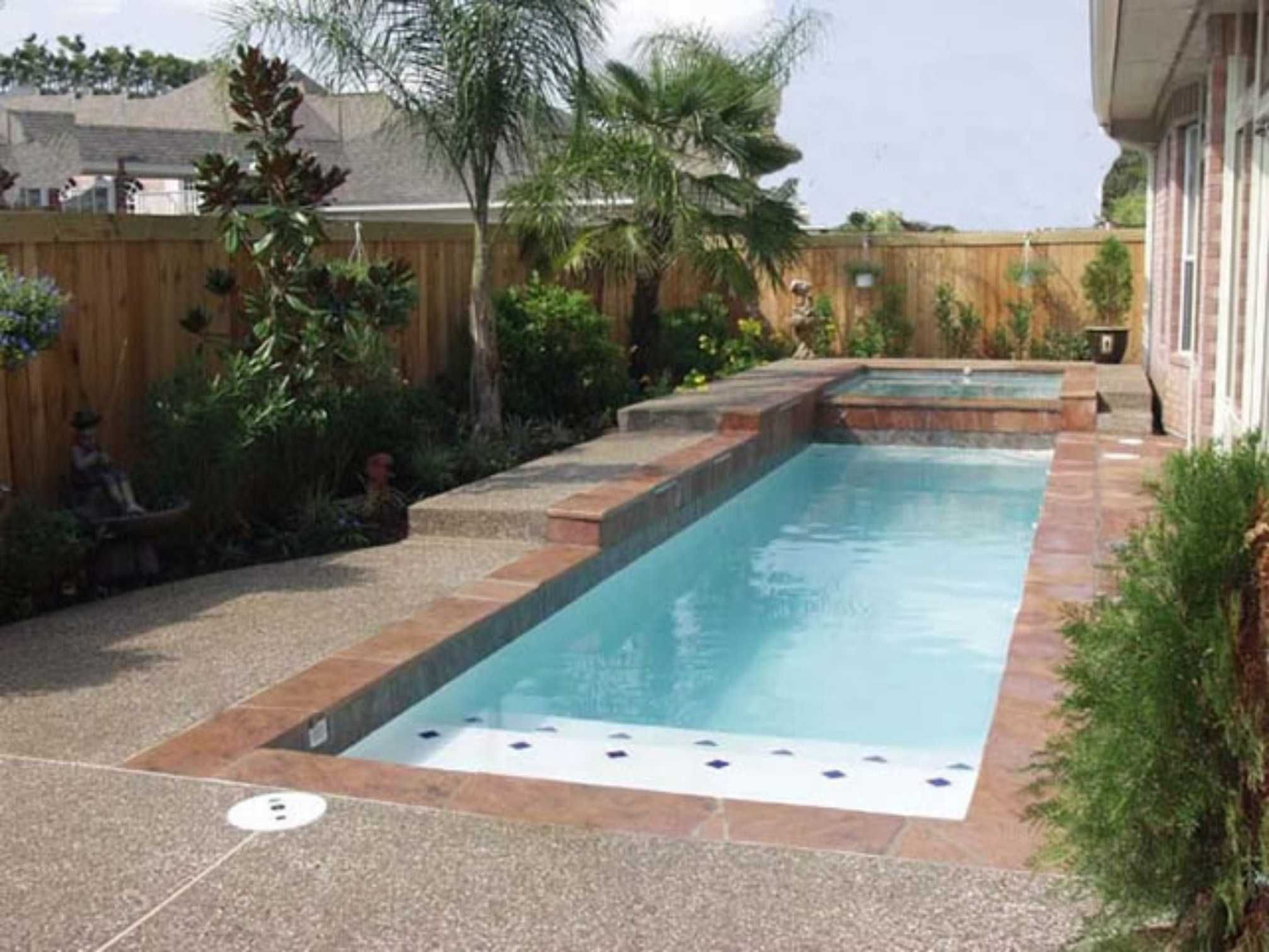 Small Inground Pools For Yards Gallery With House Plans ...