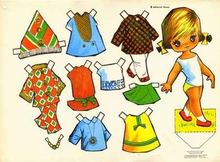 La mueca de papel For lots of free Christmas paper dolls
