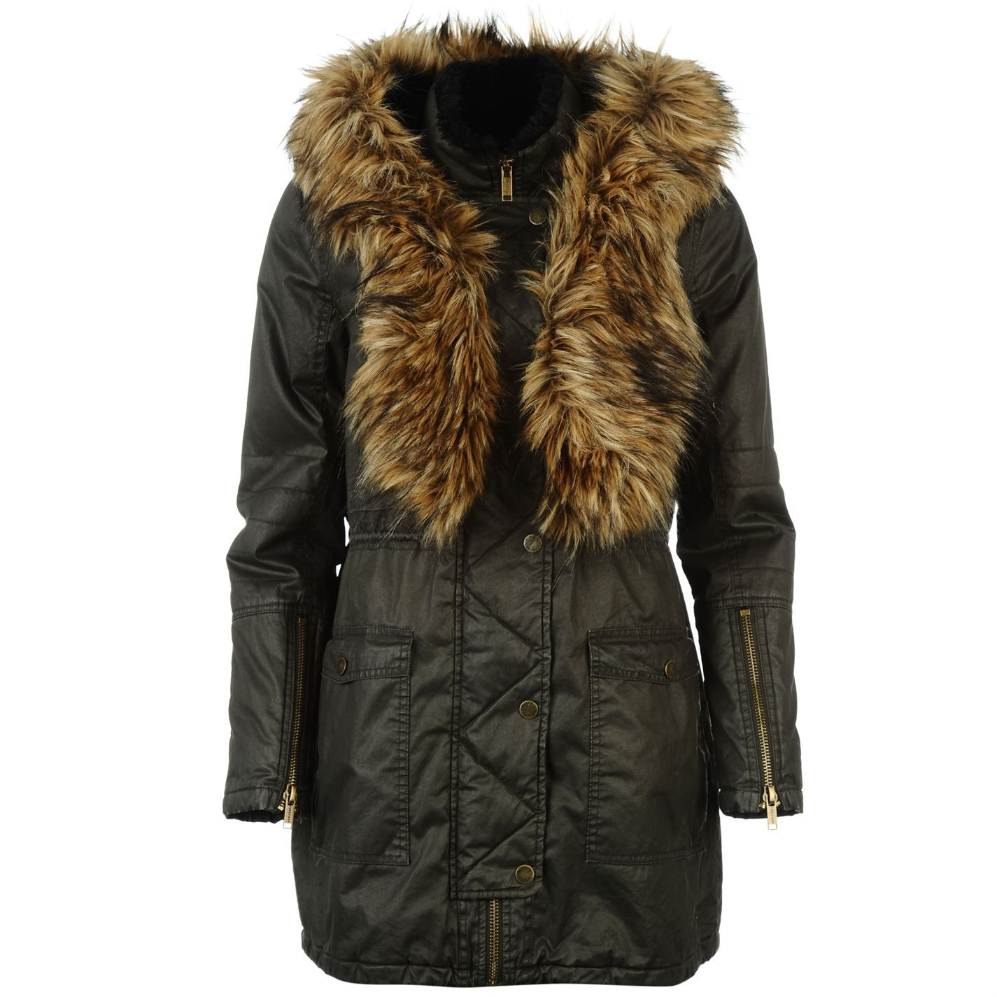 Firetrap | Firetrap Waxed Parka Jacket Ladies | Ladies Jackets and ...