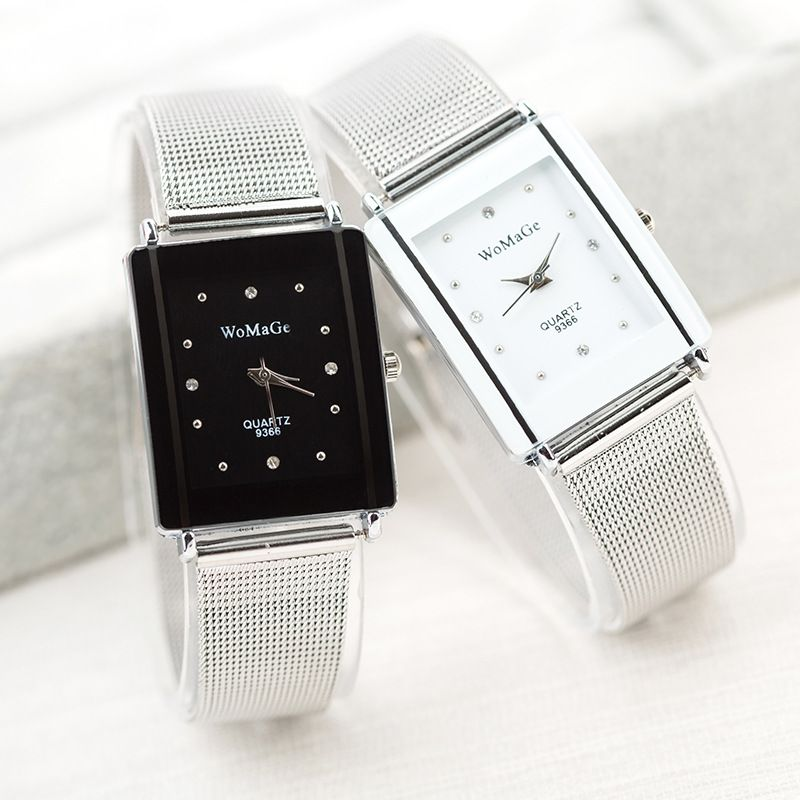image result for silver wrist watches rectangular