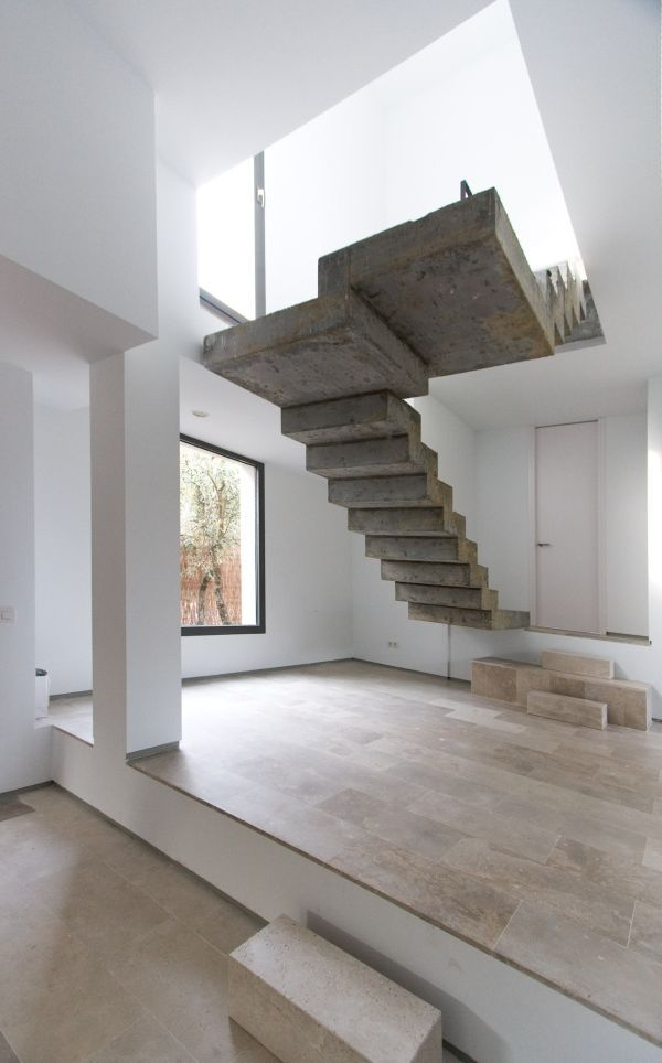 Schwebende betontreppen konstruktion kragarm keine for Innenarchitektur 30er