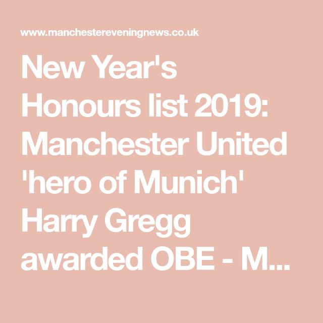 Manchester United Hero Of Munich Harry Gregg Awarded Obe In New