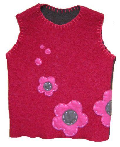 HAND MADE ORIGINAL Design Sweater Vest (Ages 18-24 Months) -  For SALE $25.00 -  For payment details send email at artwork@ZubArt.net