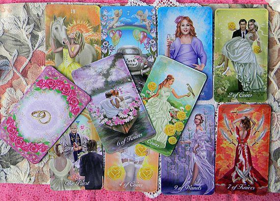 the bride's tarot  78card tarot deck  wedding